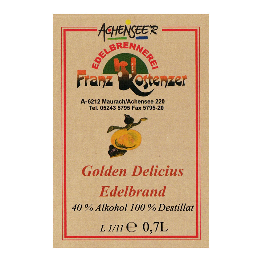 Apfel Gold Delicius