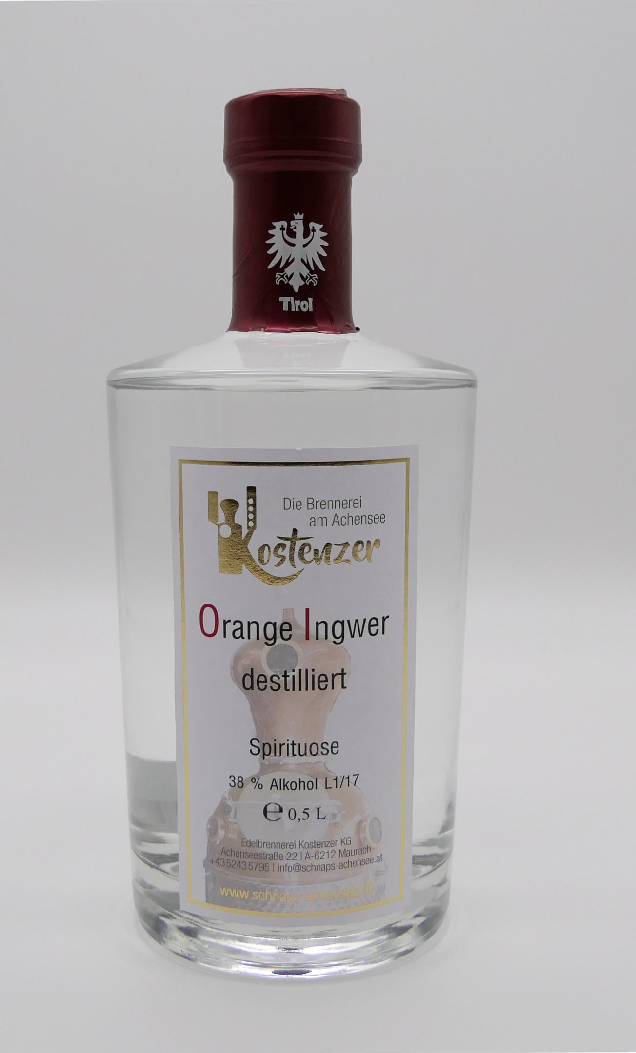 Orange-Ingwer Spirituose