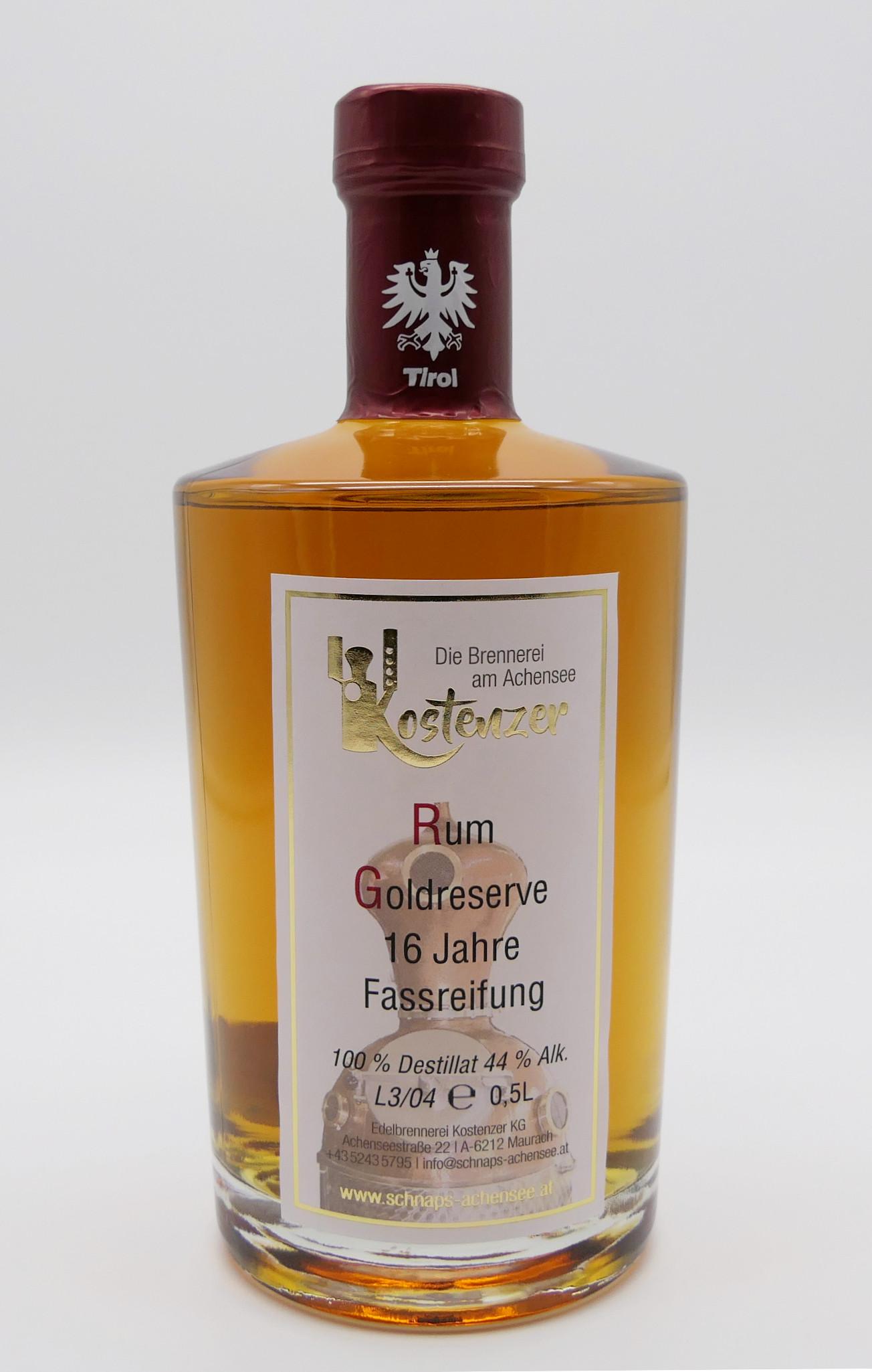 Rum Goldreserve 16 Jahre